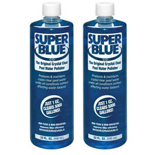 Robarb Super Blue clarifier 32oz Original Crystal Clear Pool Water Polisher 2pk