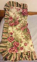 Jcp Home Linen Beige Floral King Pillow Sham Pink & Green Flowers