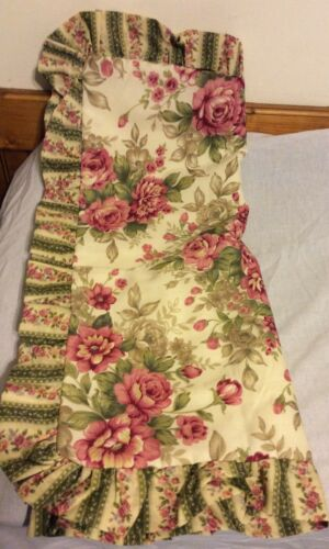 Jcp Home Linen Beige  Floral King Pillow Sham Pink /& Green Flowers New
