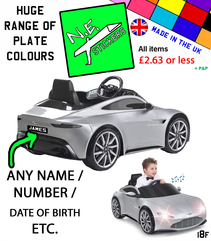 James Bond 007 Aston Martin Db10 Feber 6v Electric Ride On Car Kids Toy Grey For Sale Ebay
