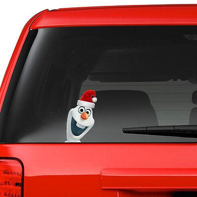 Frozen Olaf on Board Xmas Funny Joke Novelty Car Bumper Window Sticker Decal New