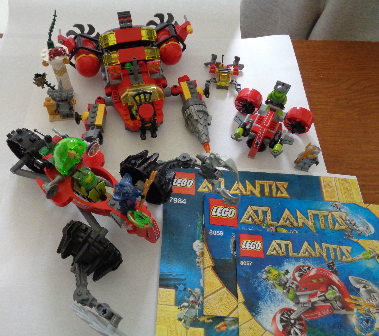 Lego 3x Atlantis 7984 8057 8059