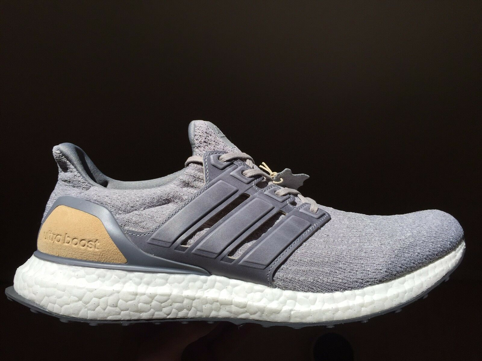 """Adidas Ultra Boost 3.0 LTD  Mid Grey"""" Leather Cage Size 11.5 shoes (BB1092)"""