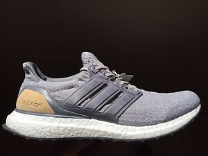 Adidas Ultra Boost 3.0 LTD Gray Leather Cage Size 12 BRAND NEW