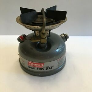 Coleman Model 533 Dual Fuel Sportster Camp Backpacking Stove Dated 08/02