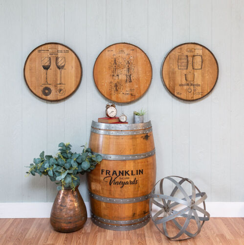 Whiskey Barrel Head Mixed Drinks About Feelings Bar Sign Home Decor Wall Art
