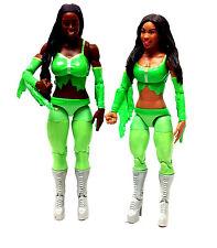 "WWF WWE TNA WRESTLING Funkadactyls Naomi + Cameron diva 6"" mattel figures RARE"