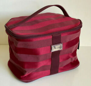 NEW-TOMMY-HILFIGER-RED-TRAIN-TRAVEL-MAKEUP-COSMETICS-ORGANIZER-CASE-49-SALE