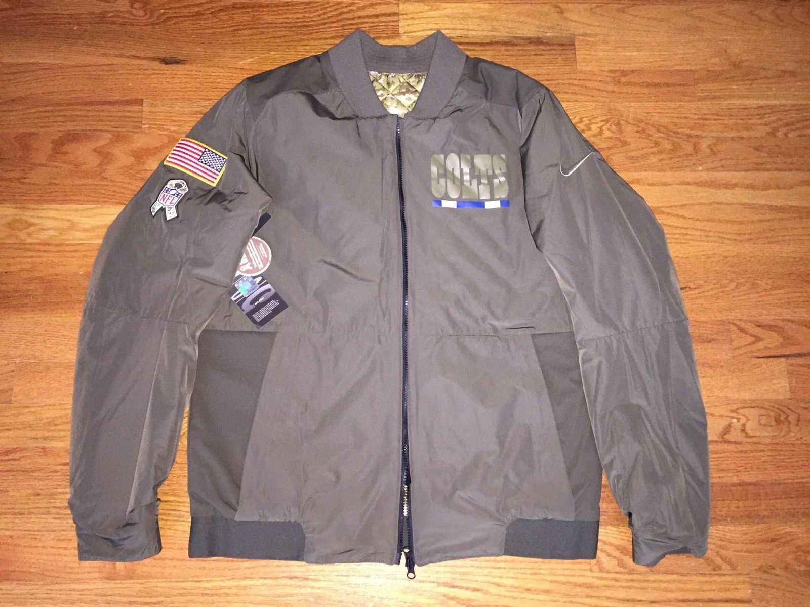 3cfa78fa8 Buy NFL Nike Mens Philadelphia Eagles Salute to Service Reversible Bomber  Jacket-3xl online