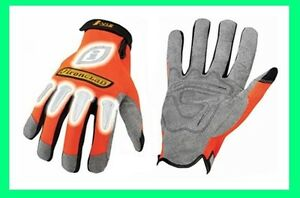 Ironclad-Orange-Synthetic-Leather-Safety-Gloves-Reflective-Medium-Large-XLarge