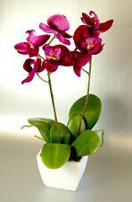 Artificial Silk Fuchsia Pink Mini Orchid in a Pot