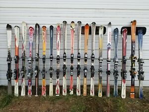 Large-Lot-of-19-Downhill-Skis-with-Bindings