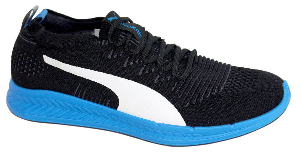 Puma ProKnit Mens Lace Up Black Trainers Running Shoes 188177 07 M15
