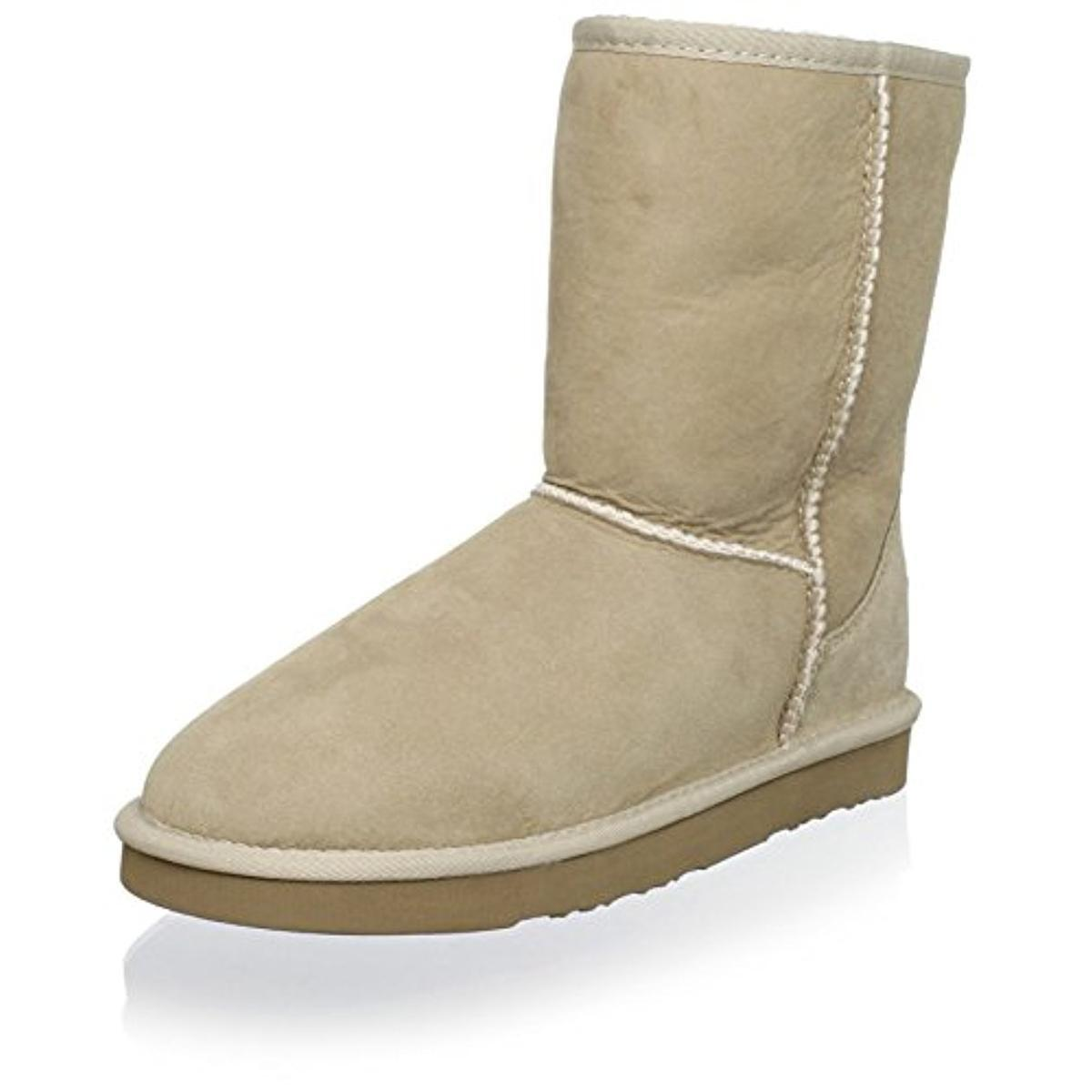 New AUSTRALIA LUXE COLLECTIVE Tan Beige Sand Cosy Short Shearling Boot Bootie 11