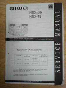 aiwa service manual for the nsx d9 t9 cassette receiver system rh ebay com Vintage Aiwa Receivers Aiwa Compact Stereo