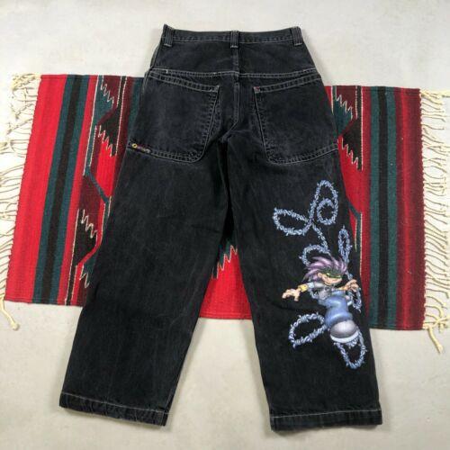 Vintage 90s 1990s JNCO Jeans Flamehead Logo Wide L