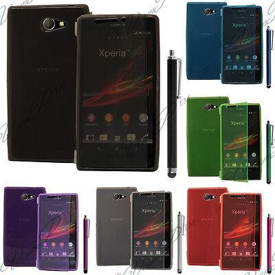 Housse Coque Etui Portefeuille Livre Silicone Sony Xperia M2 Aqua D2403 D2406