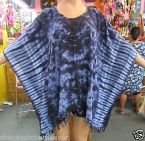 Blue-Tie-Dye-Big-Poncho-Beach-Top-FREE-SIZE-RRP-39-99-Wholesale-Store