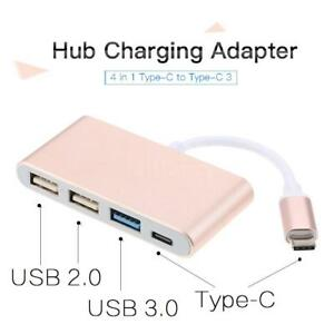 USB Type C 4 Ports Hub USB 3 0 For MacBook Pro 2018 Chromebook