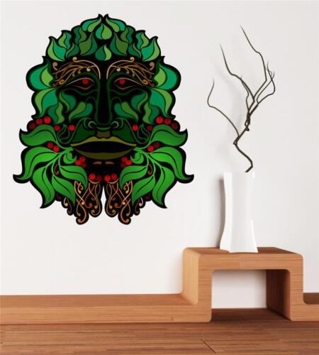 El arte de pared calcomanía-Full Color-Verde Hombre-Bosque De Dios-Invierno-Yule