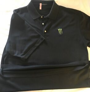monster energy drink mens size xl pullover polo golf black. Black Bedroom Furniture Sets. Home Design Ideas