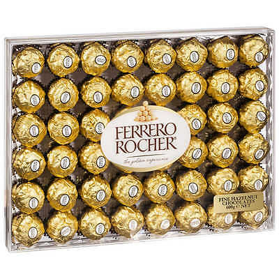Ferrero Rocher Fine Hazelnut Chocolates Gift Box 48 pcs - 600 gms Free Shipping