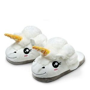 db587f8899c Unicorn Home Slippers Pantufa Cute Shoes Cartoon Fur Unisex Indoor ...
