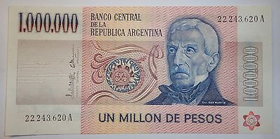 ARGENTINA NOTE  ONE MILLON PESOS 1,000,000 Pick 310 UNCIRCULATED