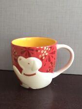 2018 Starbucks Chinese New Year Dog Zodiac Red Yellow Ceramic Mug / Cup -No Card