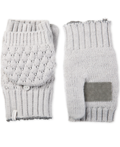ISOTONER-Women-039-s-Convertible-Flip-Top-Mittens-With-Palm-Patch-One-Size-Grey