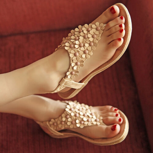 Summer Flat Shoes Woman Rome Style Gladiator Sandals Boho Beach Sandals Ladies