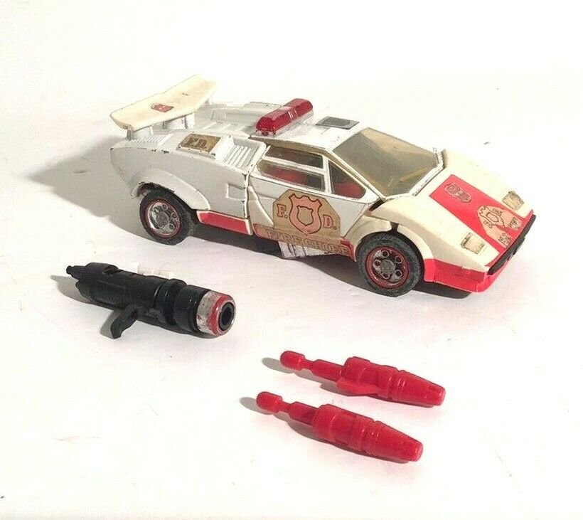RARE TRANSFORMATEUR G1 Lamborghini chef des pompiers voiture Action Figure Hasbro Takara 1982