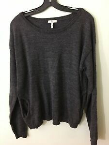 Joie-Merino-Wool-Gray-Pullover-Sweater-with-pockets-Large