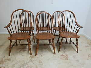 6 Ethan Allen Circa 1776 Windsor Back Dining Room Chair