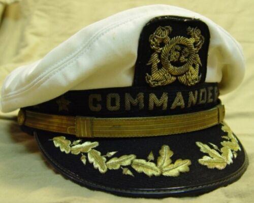 Skipper/'s Yachting Hat White COMMANDER BULLION Replica cap