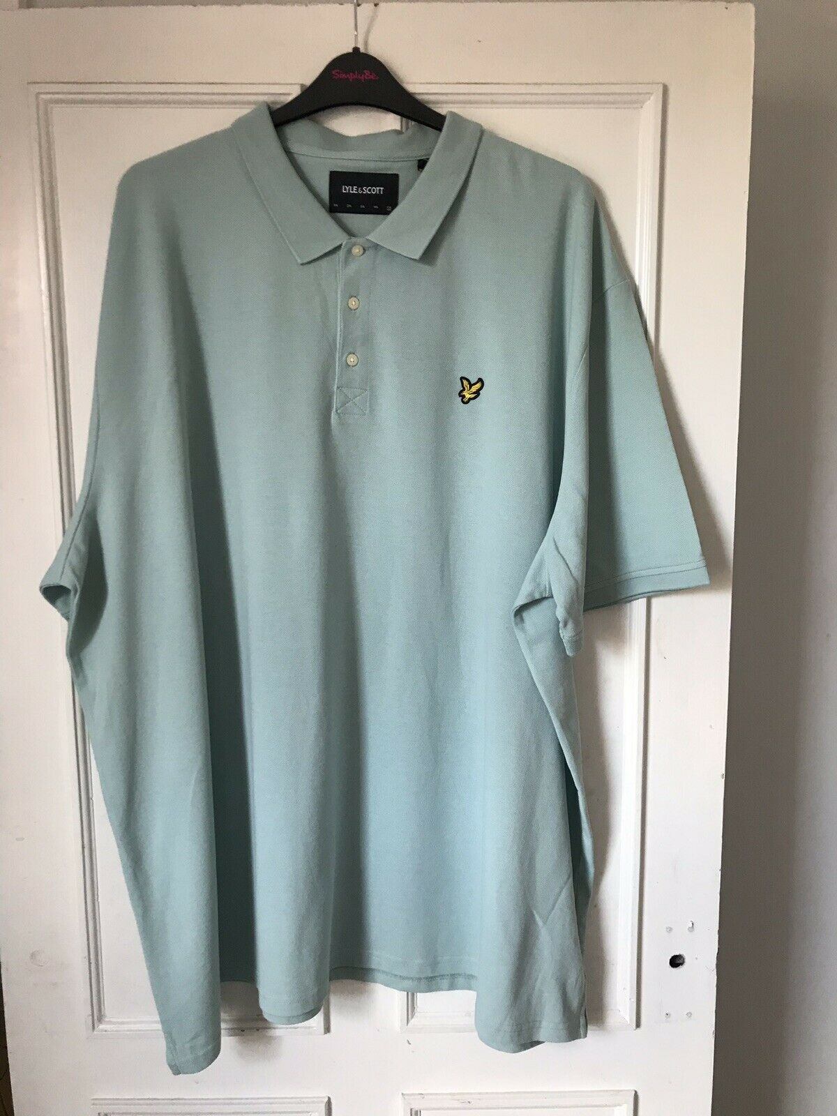 Mens Authentic Lyle & Scot Powder bluee Polo Tshirt, Size 3XL New