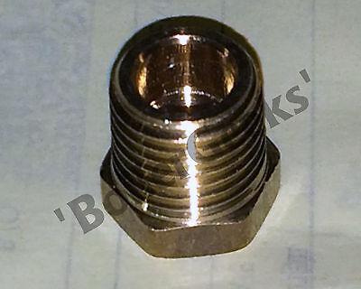 Brass Reducer 1/4 NPT(M) x 1/8 NPT(F)  reducer bushing adapter