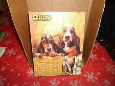 Jig Saw Puzzle Golden Little Charmers Bassetts in a Basket 63 1985 #4619 #g7