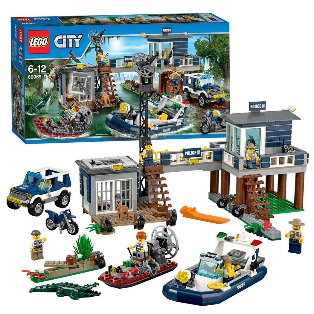 LEGO  città (60069) Swamp polizia Station (& Nuovo Di Zecca Sigillato in fabbrica)  100% autentico