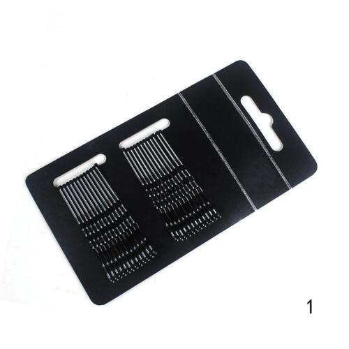 24stk//set Haarspangen Flat Top Bobby Pins Grip Salon Haarspange Haarnadel 4 F1T3