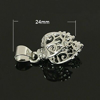 5pcs Jewelry Charms Making Brass Ice Pick Pinch Bails Platinum Connector 24mm