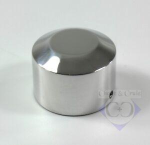 Abdeckung Achs-Mutter Smooth hinten links Aluminium poliert