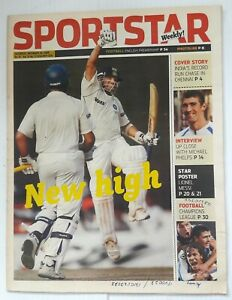 """India Sportstar 2008-10 GOLF cover issues 10"""" X 13"""" (5)"""