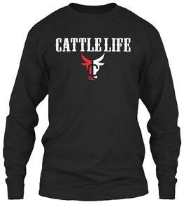 Cattle-Life-Gildan-Long-Sleeve-Tee-T-Shirt
