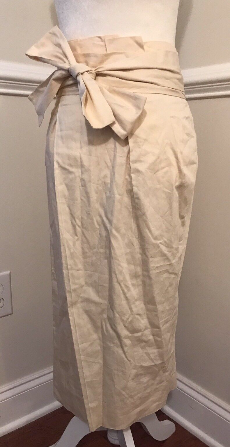 NEW J. CREW PAPER-BAG SKIRT IN TWILL IN IVORY SZ 0 G1527