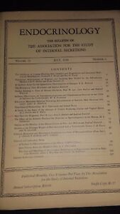 Revista Endocrinología The Boletín Of The Association FOR.VOL.23 1938 N º 1