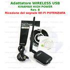 WIRELESS-N ADAPTER USB KINAMAX 150 ANTENNA AMPLIFICATA WIFI AMPLIFICATORE wi-fi