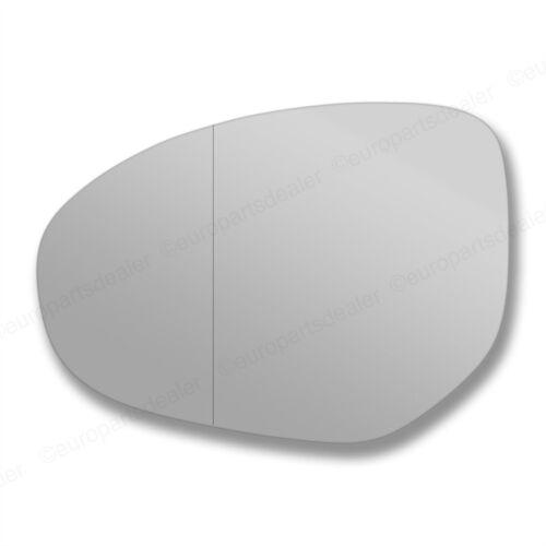 Para Mazda 2 2007-2012 Lado Izquierdo Gran Angular Ala Puerta Espejo De Vidrio