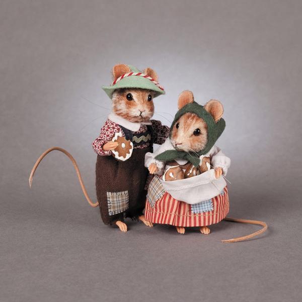 R. John Wright Hansel & Gretel Cuento de Hadas Ratón Muñeca De Colección EE. UU. hecho a mano