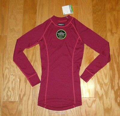 Craft Active Crewneck Shirt L/s Top Nwt Size S Blossom/hibiscus Women's Matching In Colour Women's Clothing Clothing, Shoes & Accessories